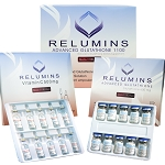 Authentic Relumins Advanced IV Glutathione 1100mg 10 vials - Glutathione & Vitamin C - Whitens, repairs & rejuvenates skin