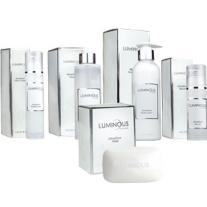 NEW Luminous UltraGlow Set - Cream, Lotion, Serum, Soap and Toner!!  Bright and Glowing Skin Set  from RELUMINS