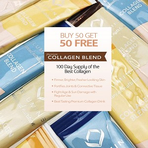 100 Sachets Relumins Premium Collagen Blend Bulk Package - Buy 50 Get 50 FREE Premium-Grade ActuMarine Collagen with Glutathione, Green Tea Extract and CoQ10