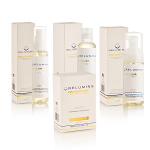 Authentic Relumins Medicated Professional Clear Set with Acne Fighting Botanicals