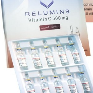 Relumins Advance Vitamin C Solution - 10 x 500mg Ampoules - INTERNATIONAL ONLY