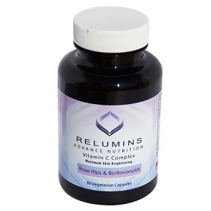 Relumins Advance Nutrition Vitamin C Complex MAX Skin Brightening with Rose Hips & Bioflavinoids -  60 Capsules (30 Day Supply)